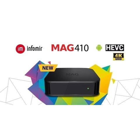 IPTV MAG 410 Infomir 4K Android