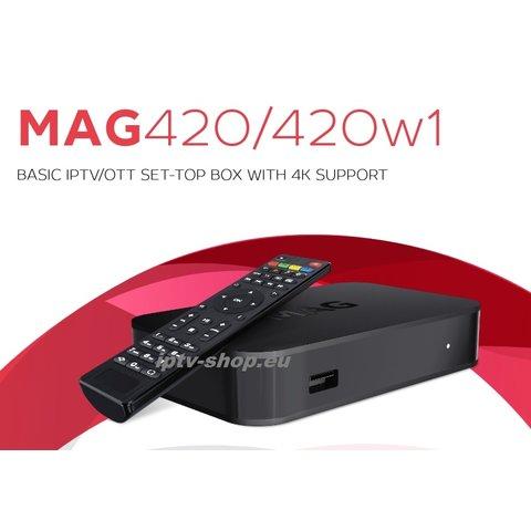 IPTV MAG 420w1 Infomir 4K Linux