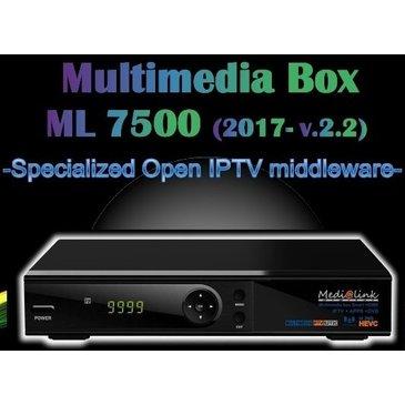 IPTV ML 7500 S2T2 HEVC MEDIALINK